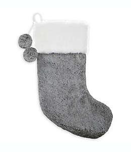 Bota navideña Bee & Willow™ Home afelpada en gris/blanco