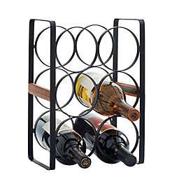 Artisanal Kitchen Supply® 6-Bottle Wine Rack in Black