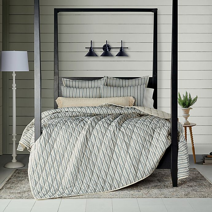 Alternate image 1 for Bee & Willow™ Home Quarry Stripe 2-Piece Twin Quilt Set in Grey/Natural