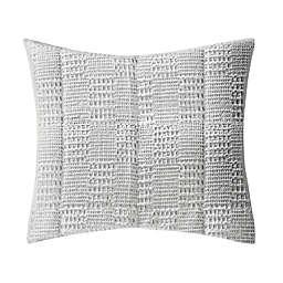 Bee & Willow™ Home Waffle Patchwork European Pillow Sham in Lunar Rock