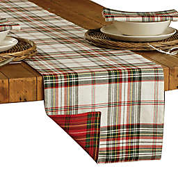 Bee & Willow™ Home Festive Plaid 108-Inch Table Runner in Red