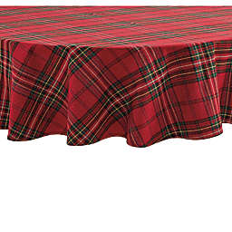 Bee & Willow™ Home Festive Plaid 70-Inch Round Tablecloth