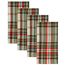 Bee & Willow™ Home Tartan Napkins in Ivory (Set of 4)