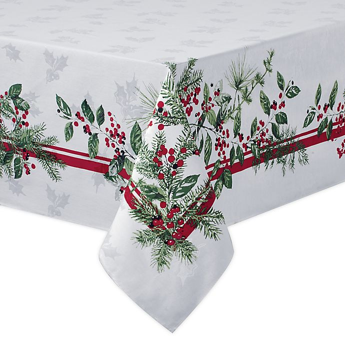 Alternate image 1 for Bee & Willow™ Home Holiday Berries Tablecloth
