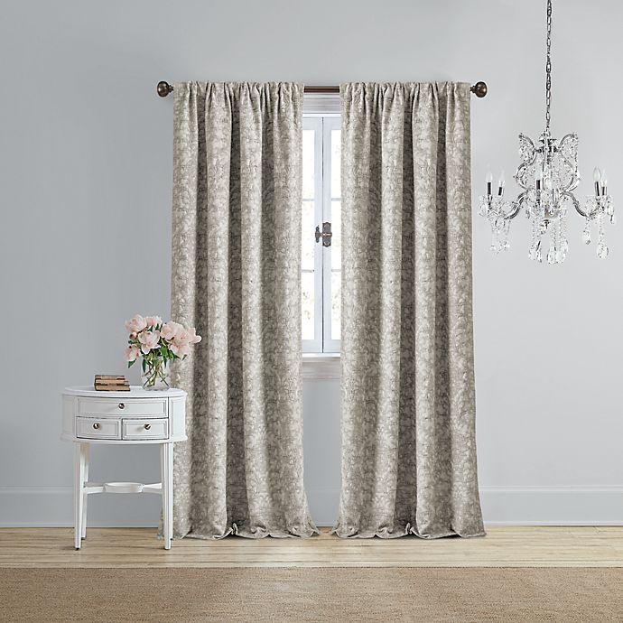 Alternate image 1 for Wamsutta® Vintage Michelet Rod Pocket Room Darkening Window Curtain Panel