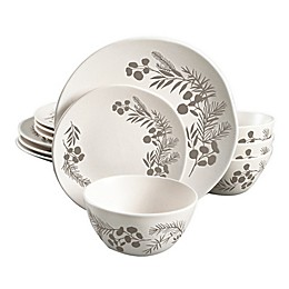 Bee & Willow™ Home Prescott 12-Piece Dinnerware Set in White