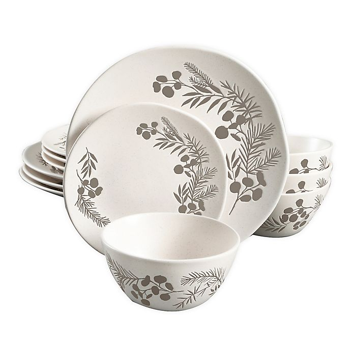 Alternate image 1 for Bee & Willow™ Home Prescott 12-Piece Dinnerware Set in White
