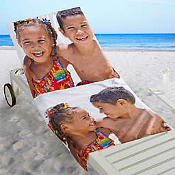 Photo Collage 2-Photo Personalized Beach Towel