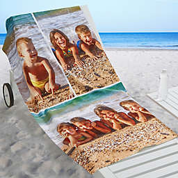 Photo Collage 3-Photo Personalized Beach Towel