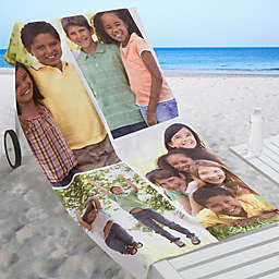 Photo Collage 4-Photo Personalized Beach Towel
