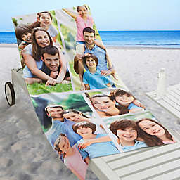 Photo Collage Personalized Beach Towel