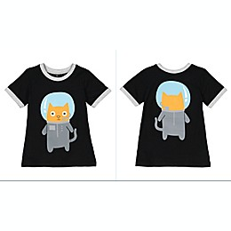 Doodle Pants® Space Cat Shirt in Black