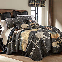 Donna Sharp® Moonlit Bear King Quilt in Black