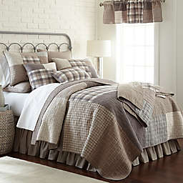 Donna Sharp Smoky Square Quilt in Beige
