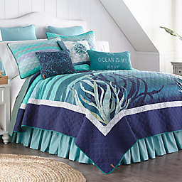 Donna Sharp Summer Surf King Quilt in Blue