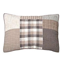 Donna Sharp Smoky Square Standard Pillow Sham in Beige