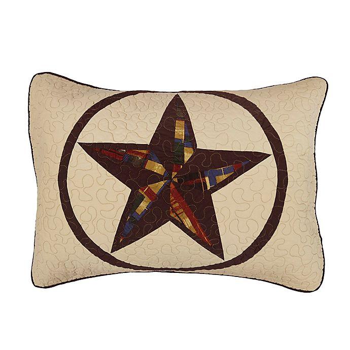 Alternate image 1 for Donna Sharp Rustic Star Standard Pillow Sham in Beige