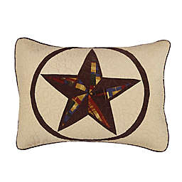 Donna Sharp Rustic Star Standard Pillow Sham in Beige