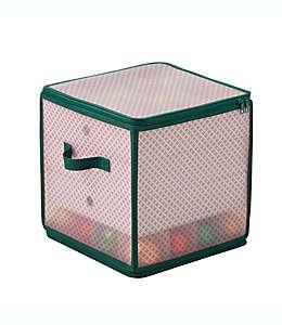 Caja de almacenamiento Winter Wonderland para 64 adornos