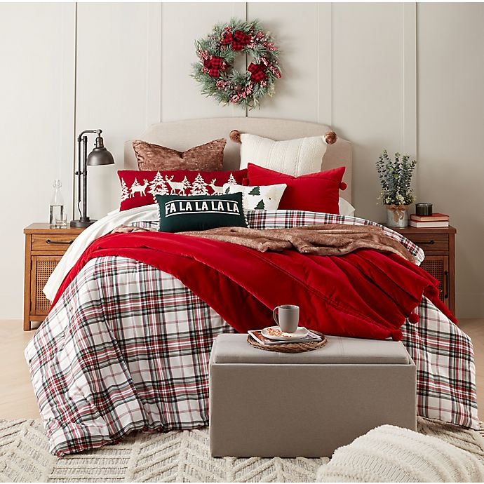 Alternate image 1 for Bee & Willow™ Home Holiday Cream Tartan Bedding Collection