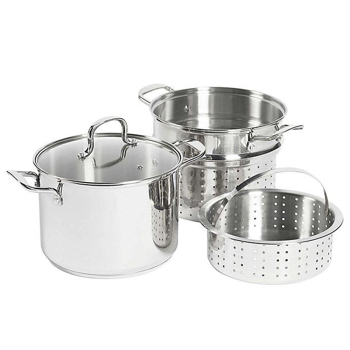Alternate image 1 for SALT® 8 qt. Stainless Steel 4-Piece Multi-Cooker