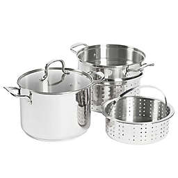 SALT® 8 qt. Stainless Steel 4-Piece Multi-Cooker
