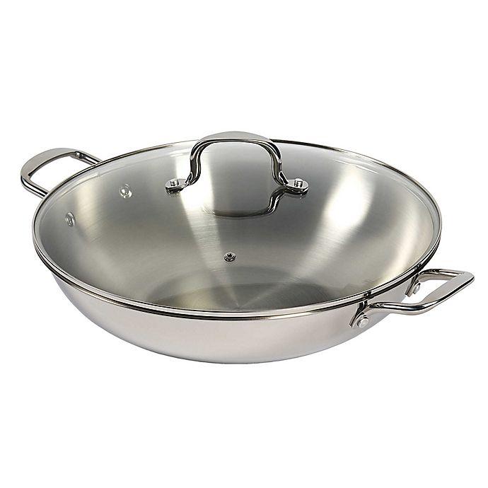 Alternate image 1 for SALT™ 14-Inch Stainless Steel Covered Wok