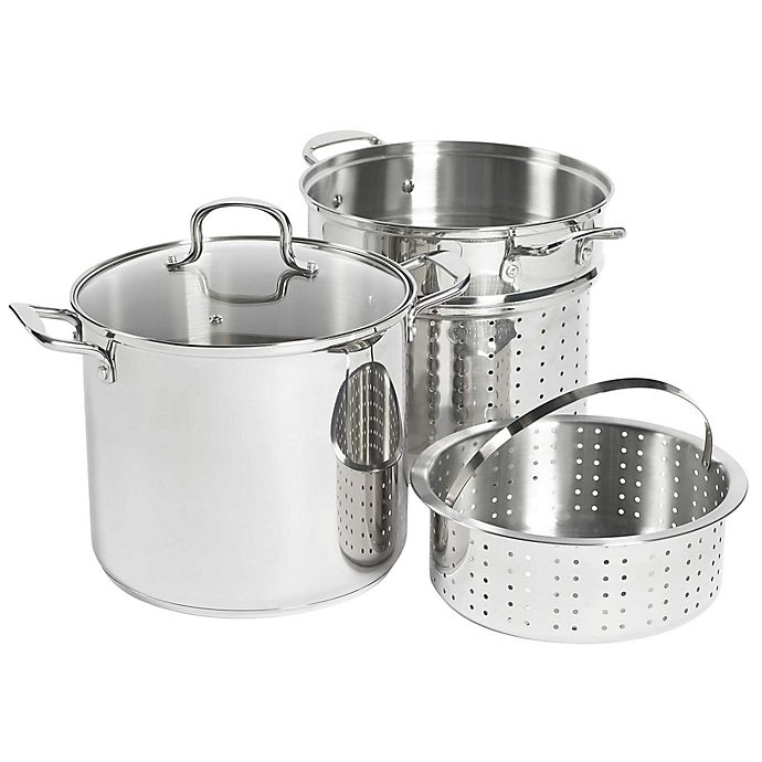 Alternate image 1 for SALT® 12 qt. Stainless Steel 4-Piece Multi-Cooker