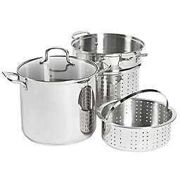 SALT™ 12 qt. Stainless Steel 4-Piece Multi-Cooker