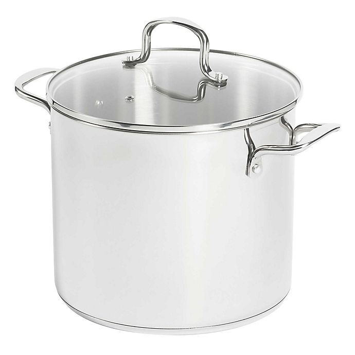Alternate image 1 for SALT™ 12 qt. Stainless Steel Covered Stock Pot