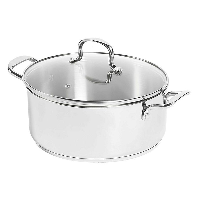 Alternate image 1 for SALT™ 7.5 qt. Stainless Steel Covered Dutch Oven