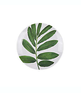 Plato para ensalada W Home Palm Leaf