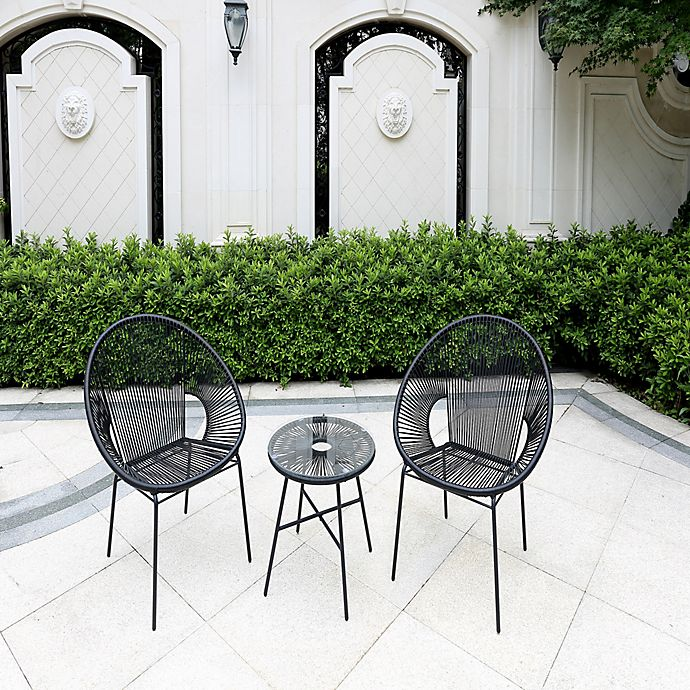 Alternate image 1 for Destination Summer Round Wicker String Outdoor Furniture Collection