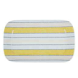 Bee & Willow™ Rectangular Melamine Serving Tray in Linen Stripe