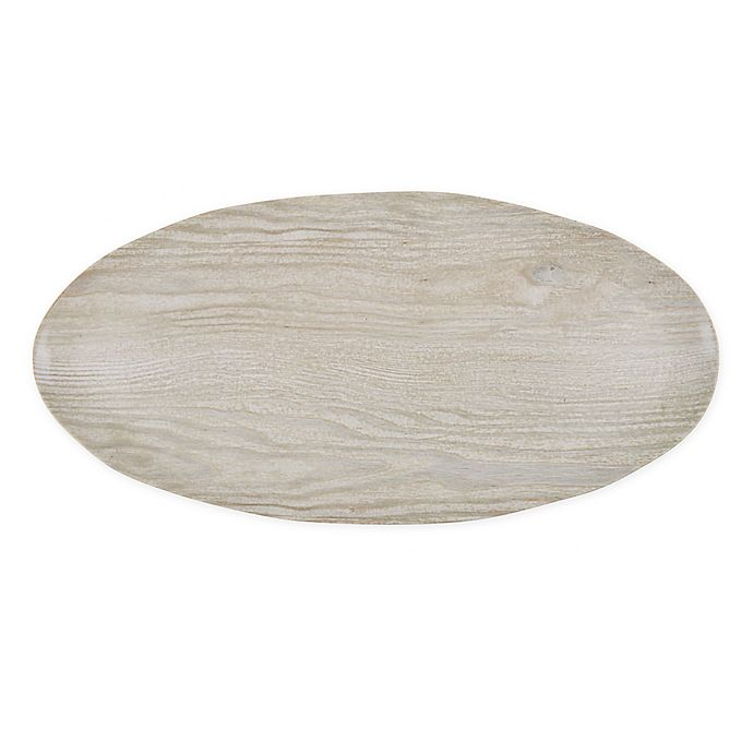 Alternate image 1 for Bee & Willow™ Home 17.4-Inch Faux Wood Melamine Serving Tray