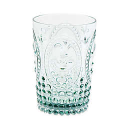 Destination Summer Vintage Embossed Double Old Fashioned Glass
