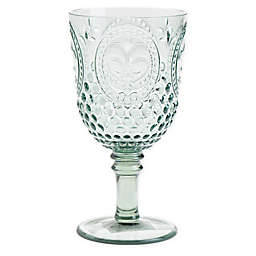 Destination Summer Vintage Embossed Goblet