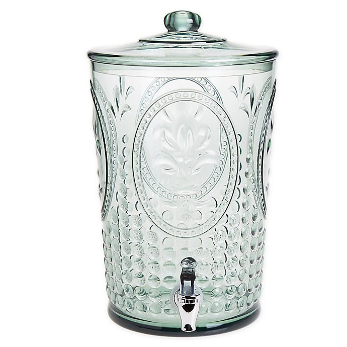 Alternate image 1 for Vintage Embossed 1.95-Gallon Beverage Dispenser in Green