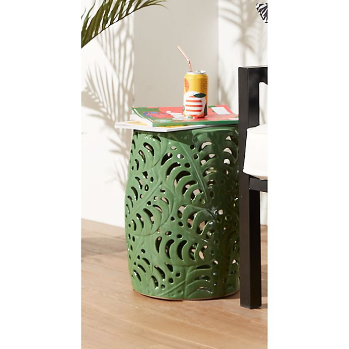 Alternate image 1 for W Home™ Ceramic Palm Garden Accent Table