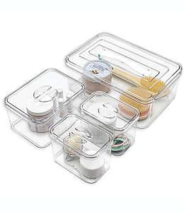 Cajas de plástico apilables SALT™, 4 pzas