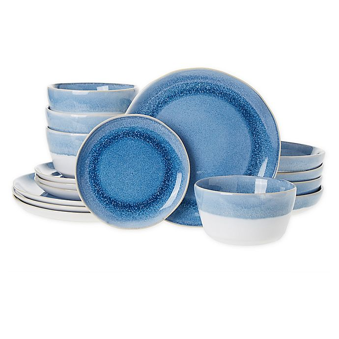 Alternate image 1 for Bee & Willow™ Home Weston 16-Piece Dinnerware Set in Sailor Blue