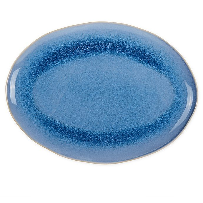 Alternate image 1 for Bee & Willow™ Home Weston 16-Inch Oval Serving Platter in Sailor Blue
