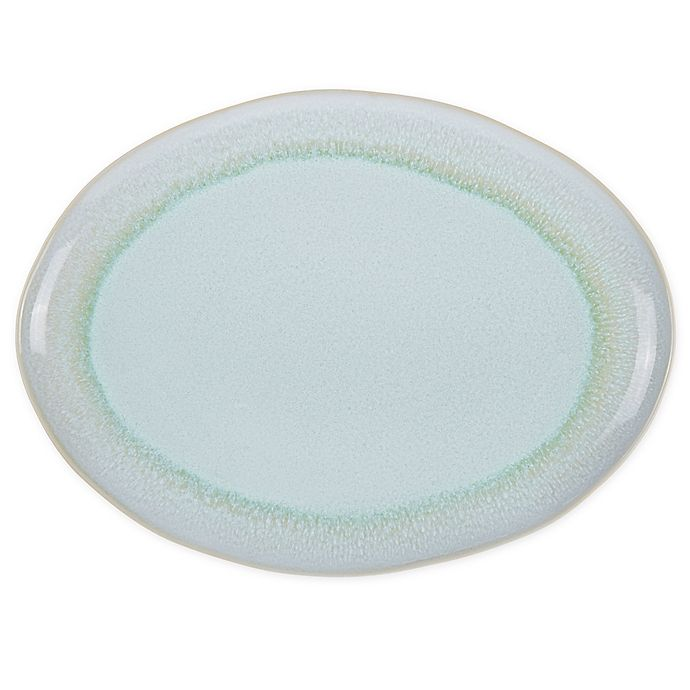 Alternate image 1 for Bee & Willow™ Home Weston 15.75-Inch Oval Platter in Mint