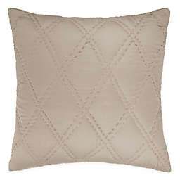 Wamsutta® Vintage Doubled Diamonds Square Throw Pillow in Dove