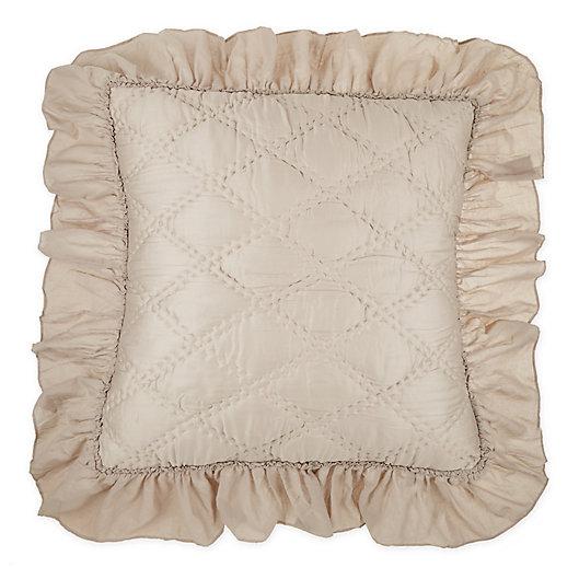 Alternate image 1 for Wamsutta® Vintage Doubled Diamonds European Pillow Sham in Dove