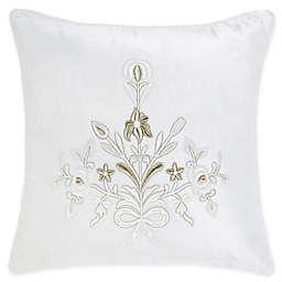 Wamsutta® Vintage Velvet Botanical Square Throw Pillow in Cream
