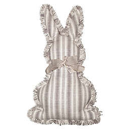 Stripe Bunny Oblong Throw Pillow in Ivory