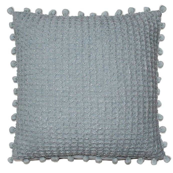 Alternate image 1 for Woven Square Throw Pillow in Blue