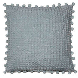 Woven Square Throw Pillow in Blue