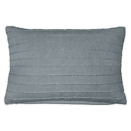 Stripe Woven Oblong Throw Pillow in Blue